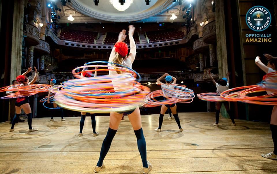 Rekord wobracaniu hula-hoop