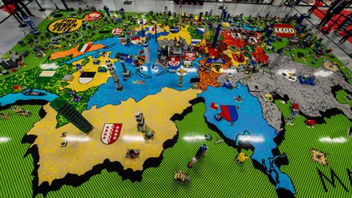 Największy obraz zklocków Lego