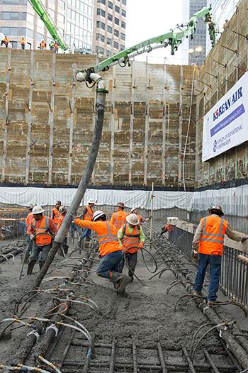 Rekord wwylewaniu betonu