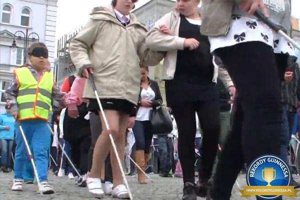 Największy spacer osób niewidomych