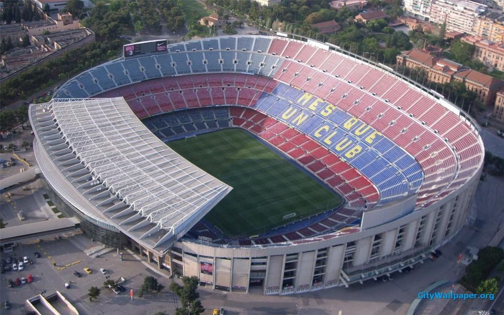 Camp Nou wHiszpanii