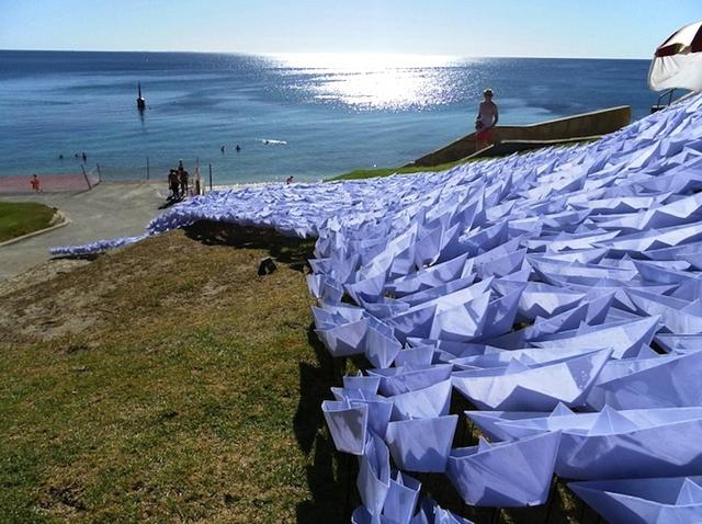 Największa wystawa łódek origami