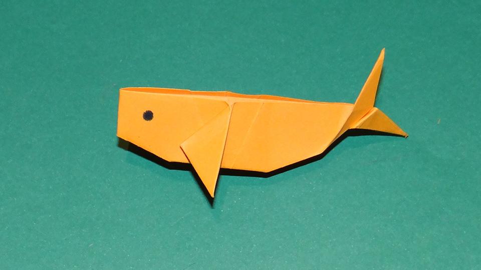 Największa wystawa wielorybów origami