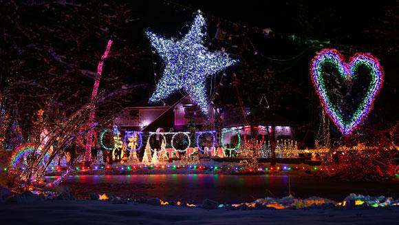 Najbardziej udekorowany dom na Boże Narodzenie