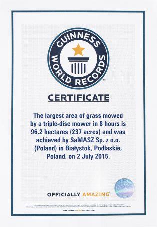 Samasz - certyfikat