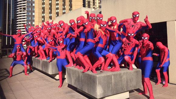Najwięcej osób wstroju Spider-Mana - rekord Guinnessa