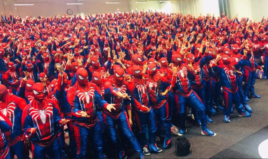 najwięcej Spider-manów