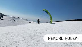 Rekord Polski - snowgliding