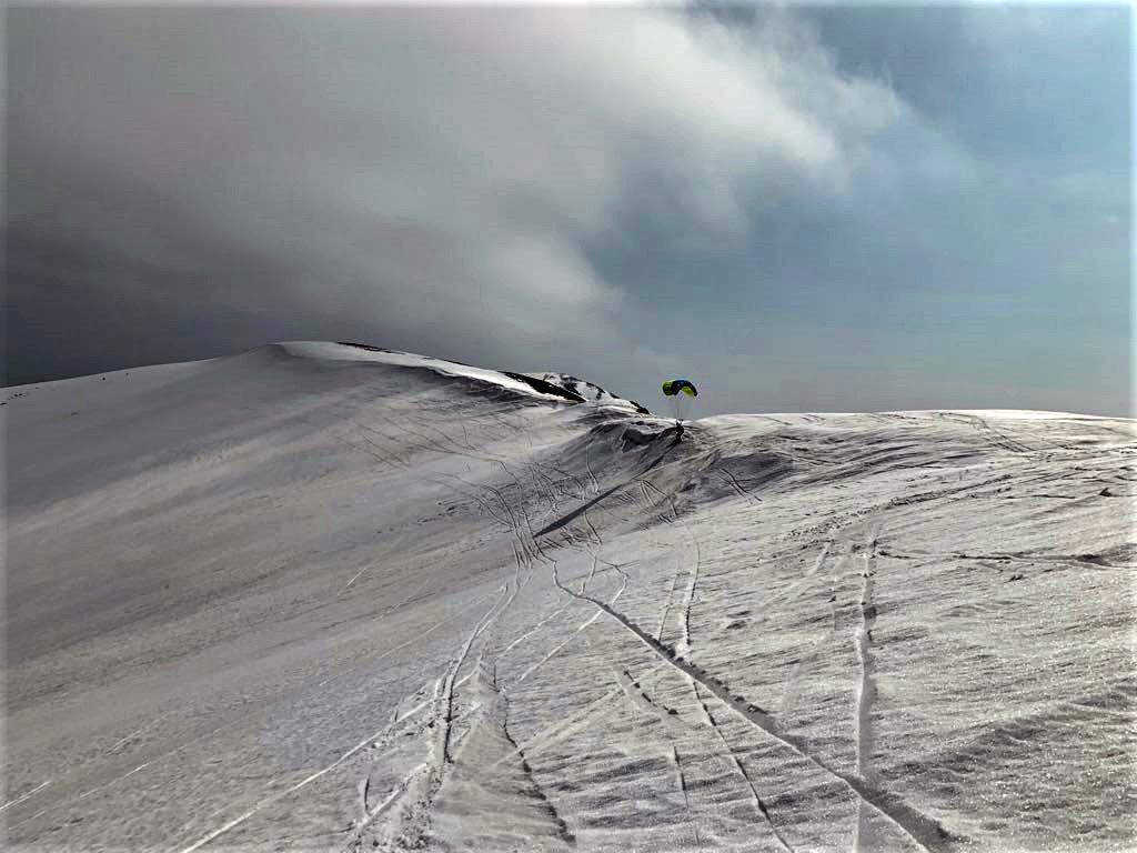 Sporty zimowe - snowgliding - rekord