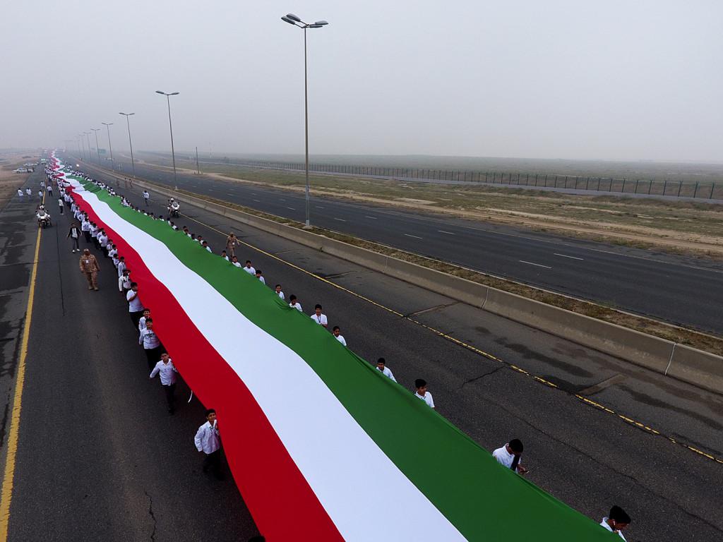 Kuwejt -rekord Guinnessa - flaga