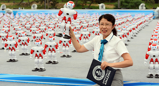 Najwięcej robotów tańczących jednocześnie - rekord