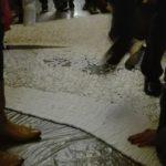 Największa mozaika z wałków stomatologicznych