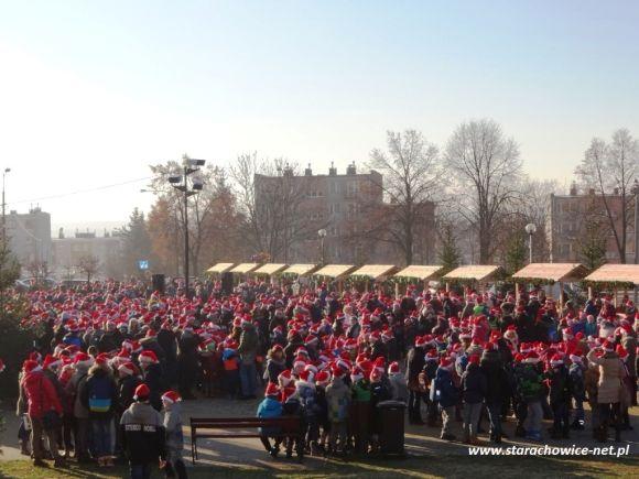 Najwięcej osób wczapkach Mikołaja - Rekord Polski
