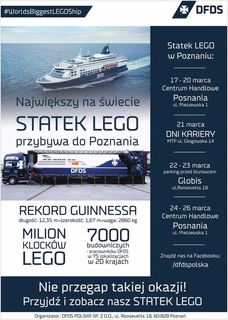 Największy statek LEGO - wPoznaniu już wmarcu!