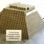 Największa piramida z monet - Rekord Polski