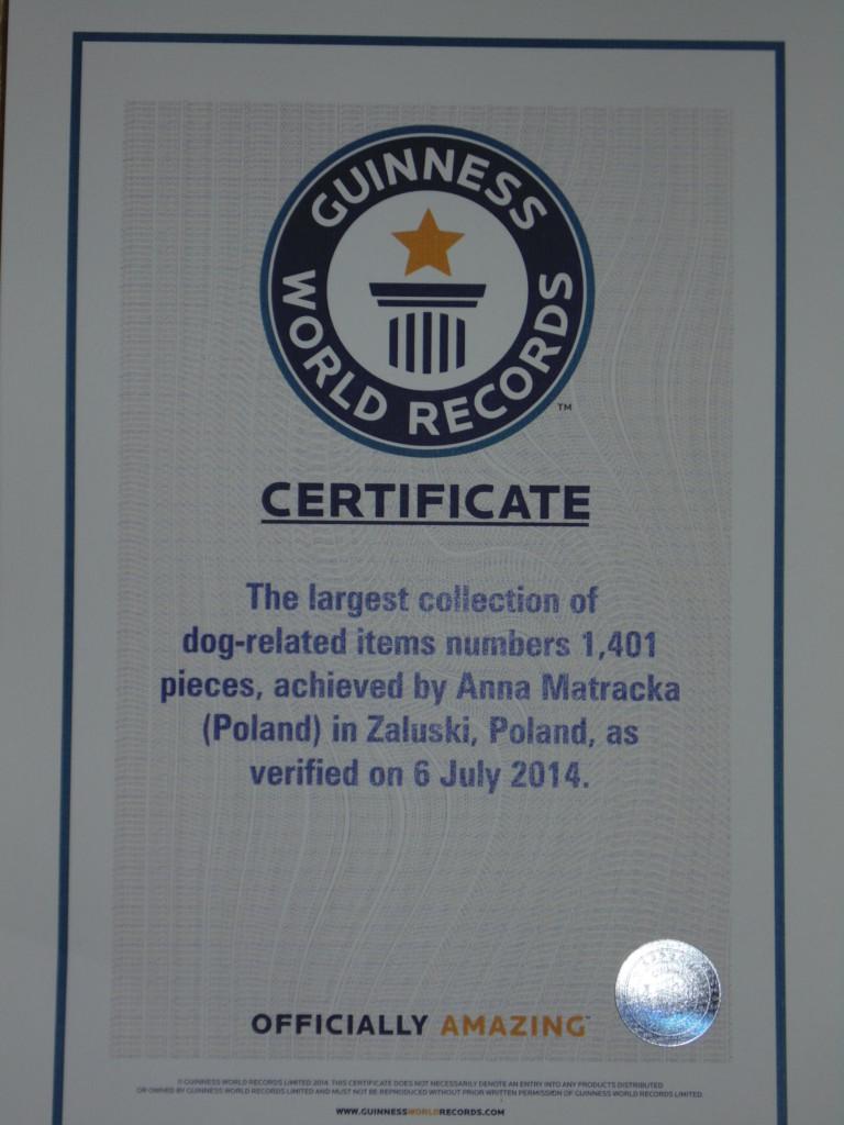 Największa kolekcja przedmiotów zpsami - Rekord Guinnessa
