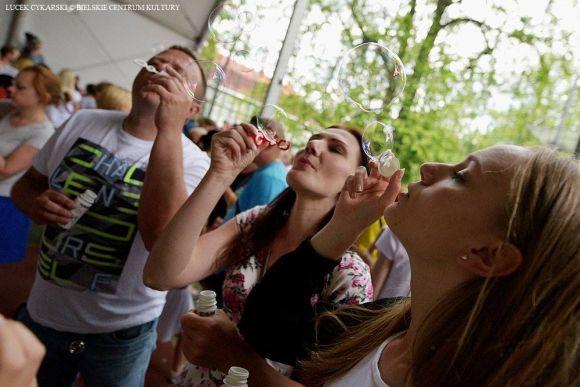Puszczenie baniek mydlanych - Rekord Polski