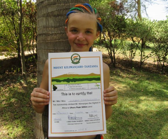 Najmłodsza Polka którazdobyła szczyt Kilimandżaro
