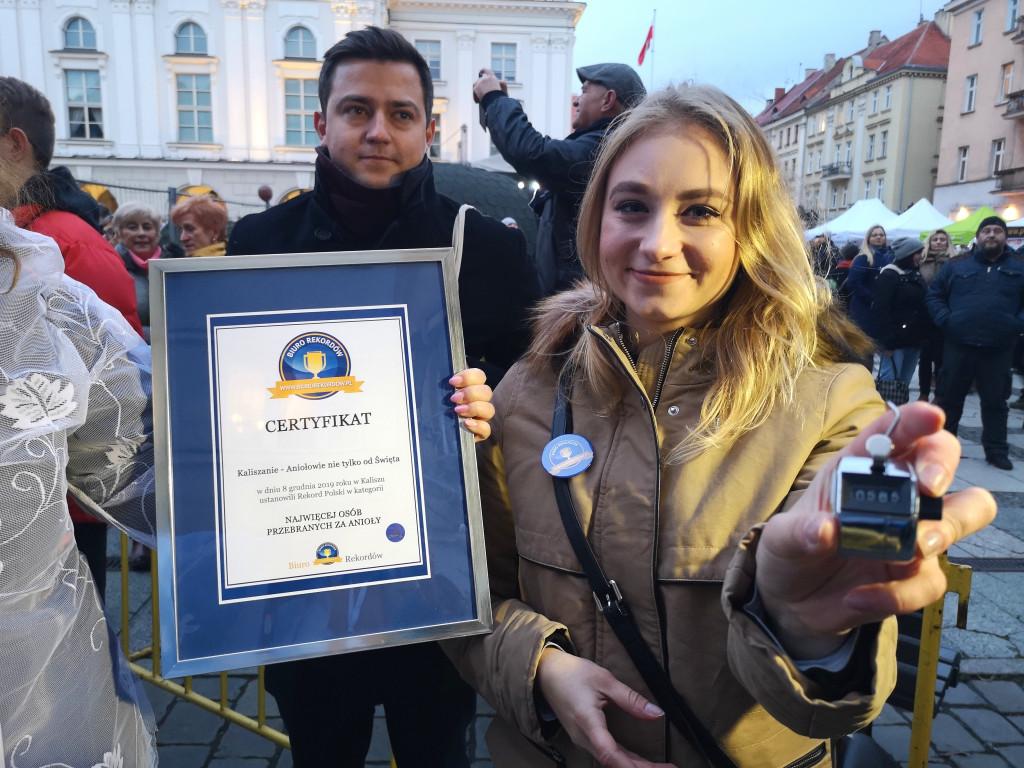 Certyfikat rekordu - aniołowie Kalisz