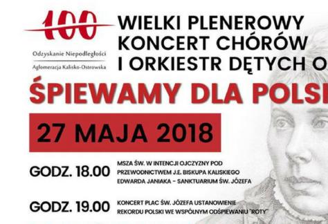 Śpiewamy dla Polski - rekord