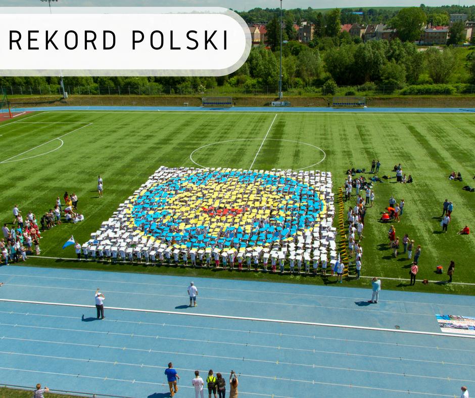 Największa mozaika z ludzi - Rekord Polski