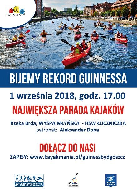 Parada kajaków - Rekord Guinnessa