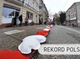 Linia z wyszywanych serc - Rekord Polski