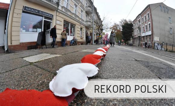 Linia zwyszywanych serc - Rekord Polski