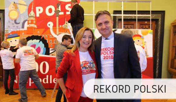 Największa mozaika z tekstyliów - Rekord Polski