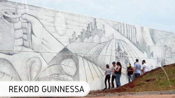 Największy mural ołówkiem