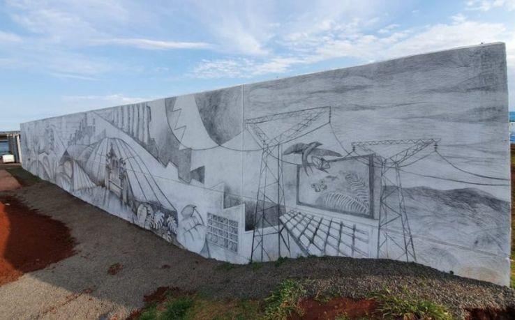 Największy mural ołówkiem wArgentynie
