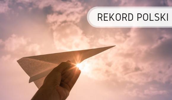 Papierowe samoloty- Rekord Polski