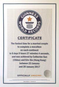Certyfikat - Rekord Guinnessa