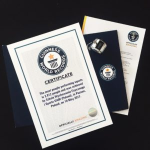Rekord Guinnessa - Certyfikat