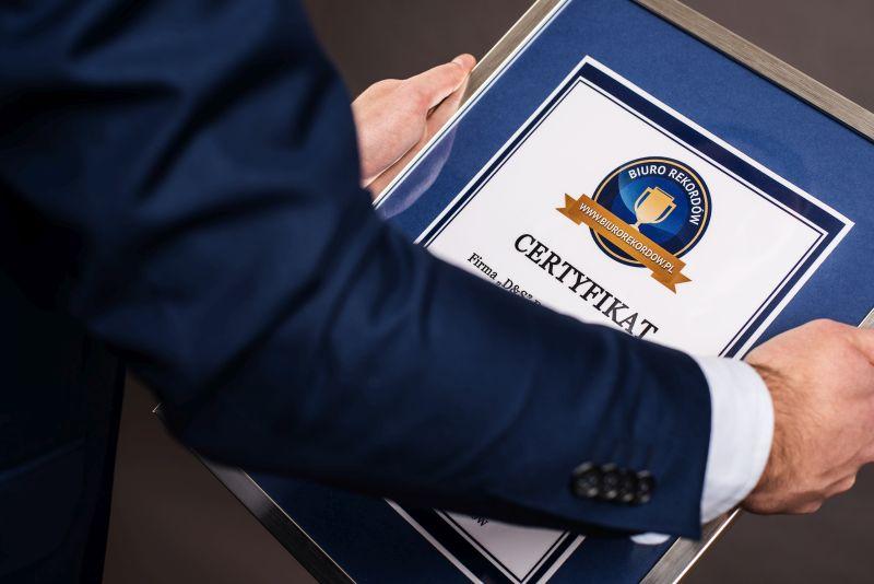 Rekord Polski - Certyfikat