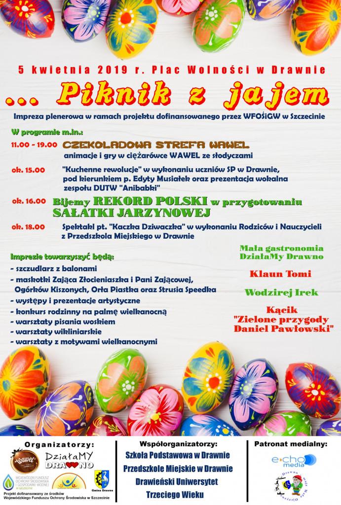 Piknik z jajem - plakat