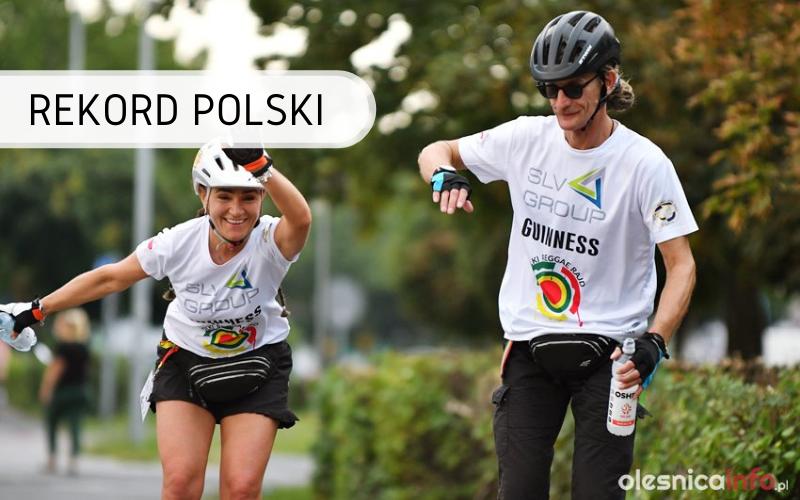 Rekord Polski - maraton jazdy na rolkach w sztafecie