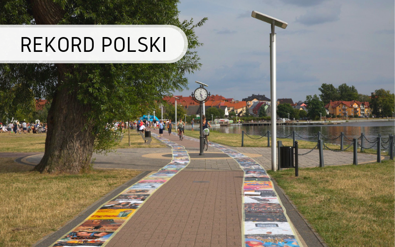 Najdłuższa Linia Z Plakatów Rekord Polski Biuro Rekordów