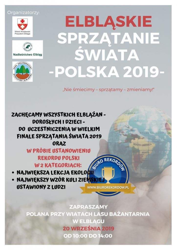 Plakat Sprzątanie Świata 2019