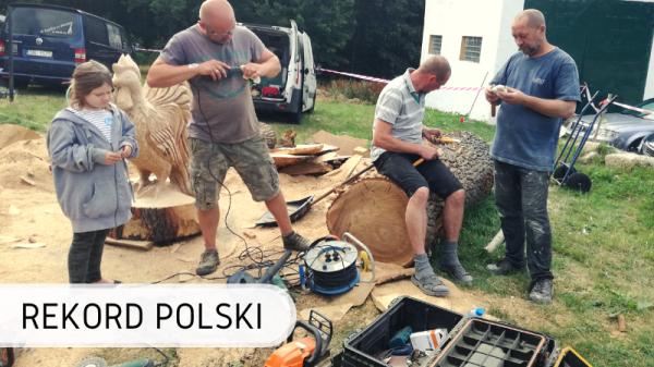 Rzeźbienie w drewnie - Rekord Polski