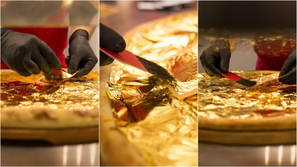 Największa złota pizza