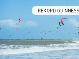 Rekord Guinnessa - największa parada kitesurferów