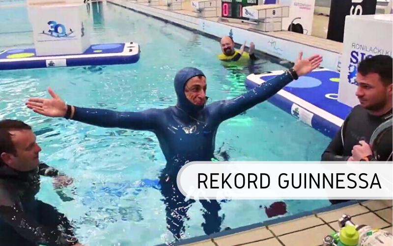 Rekord Guinnessa - nurkowanie na wstrzymanym oddechu