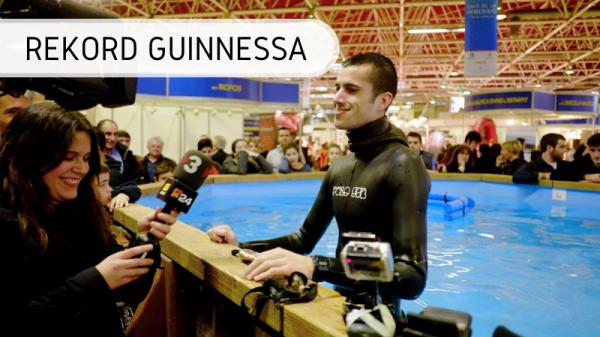 Najdłużej wstrzymany oddech pod wodą - rekord Guinnessa