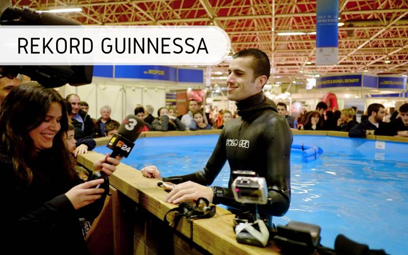 Najdłużej wstrzymany oddech podwodą - rekord Guinnessa