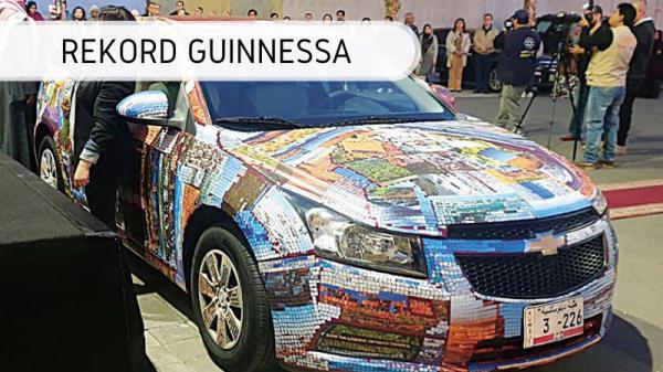 Najwięcej naklejek na samochodzie - rekord Guinnessa