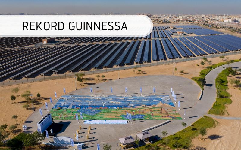 Największa mozaika zmateriałów recyklingowych - rekord Guinnessa