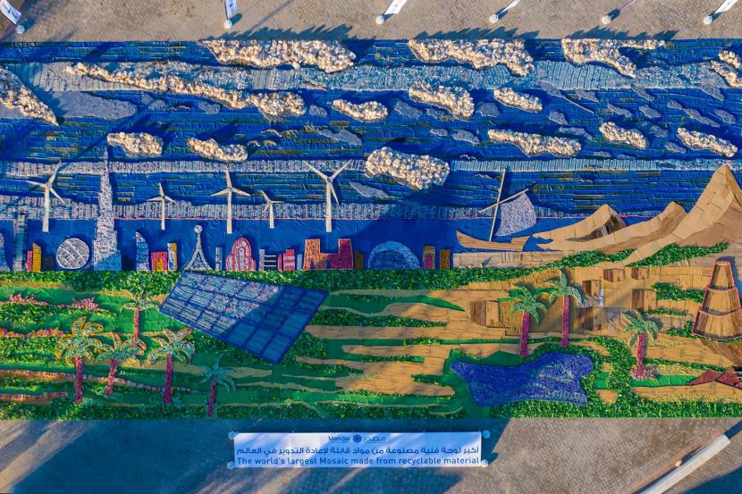 Największa mozaika zmateriałów recyklingowych