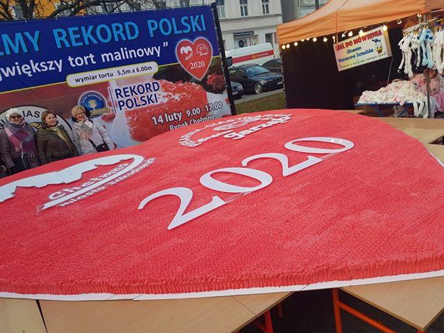 Tort malinowy - Rekord Polski