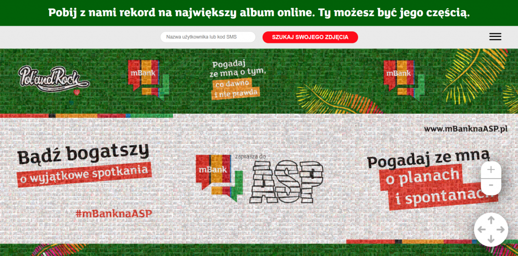 mBank - Rekord Polski - mozaika zezdjęć online